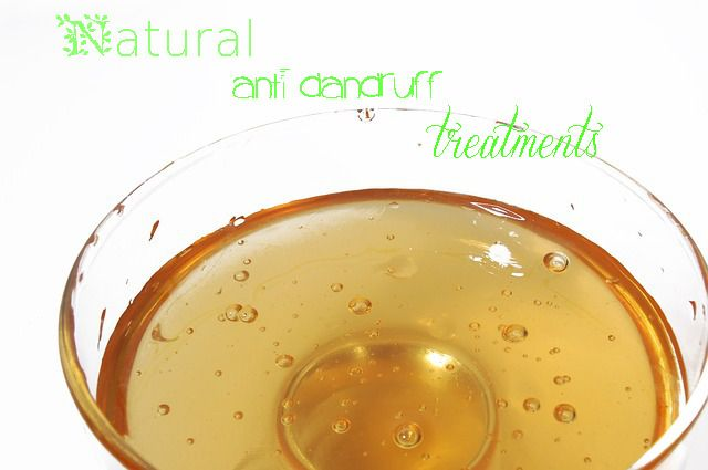 How to get rid of dandruff naturally - Easy and natural DIY homemade anti dandruff treatments