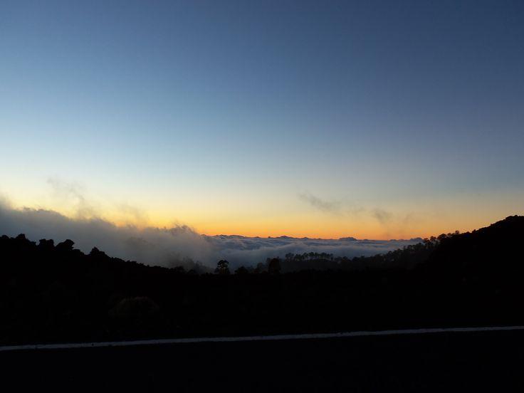 sky tenerife teide sunset awesome clouds