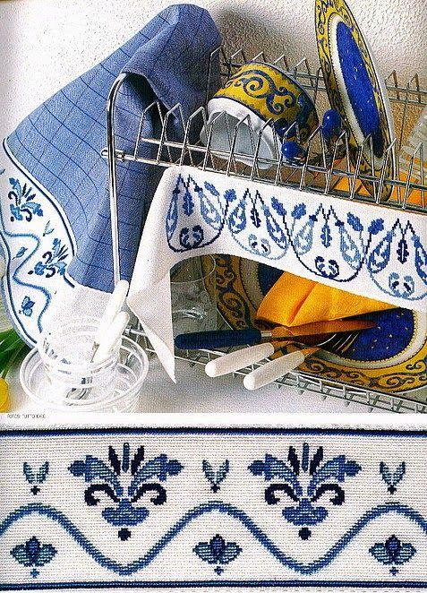 Милые сердцу штучки: Вышивка для кухни: Бордюры для полок (подборка)
