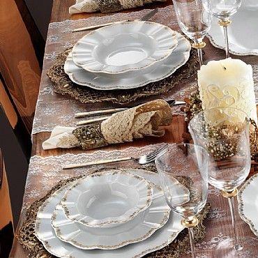 Kütahya Porselen Nil 12 Kişilik 83 Parça 847820 Desen Yemek Takımı