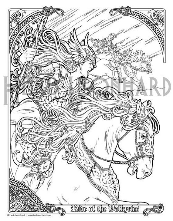 Herb Leonhard Adult Coloring Pages Legend Nouveau Coloring Book