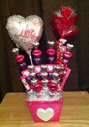 Valentine candy bouquet for niece