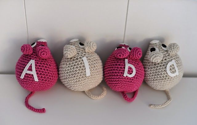 Patrón de ratón gratis - Crochet - Free mouse pattern