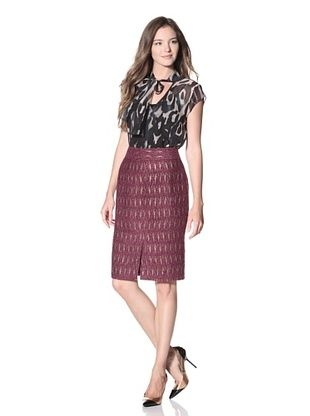 Craig Taylor Women's Giovanna Boucle Skirt with Gold Accents