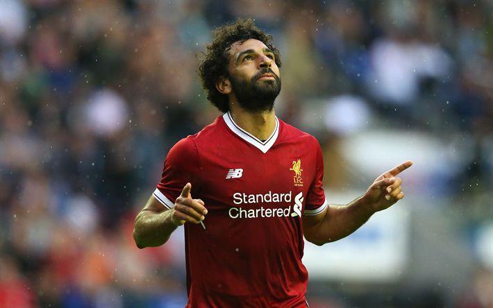 Descargar fondos de pantalla Mohamed Salah, de Liverpool, de la Premier League, El jugador de fútbol americano, fútbol