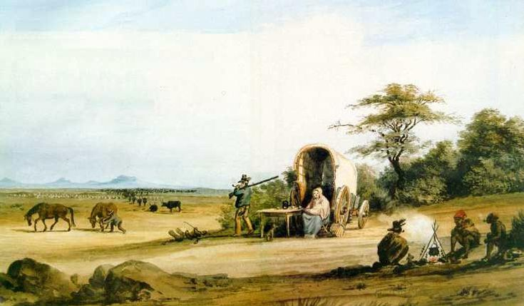 Dutch trekboers (wandering farmers) arrived in South Africa in the 1600s.