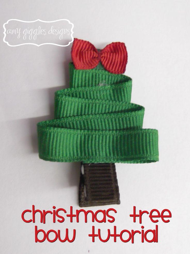 Amy Giggles Designs: Christmas Hair Bows