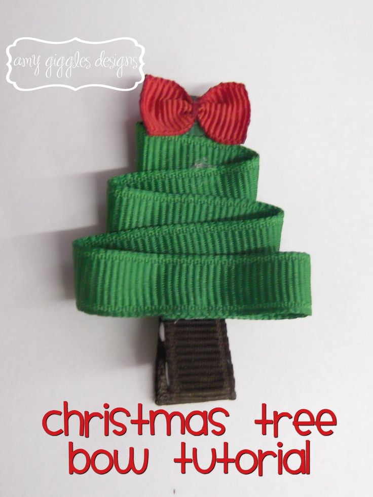 Christmas Tree Hair Clips