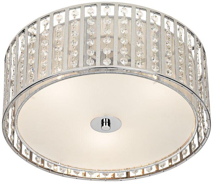 Possini chrome and crystal strands flushmount ceiling light lampsplus com