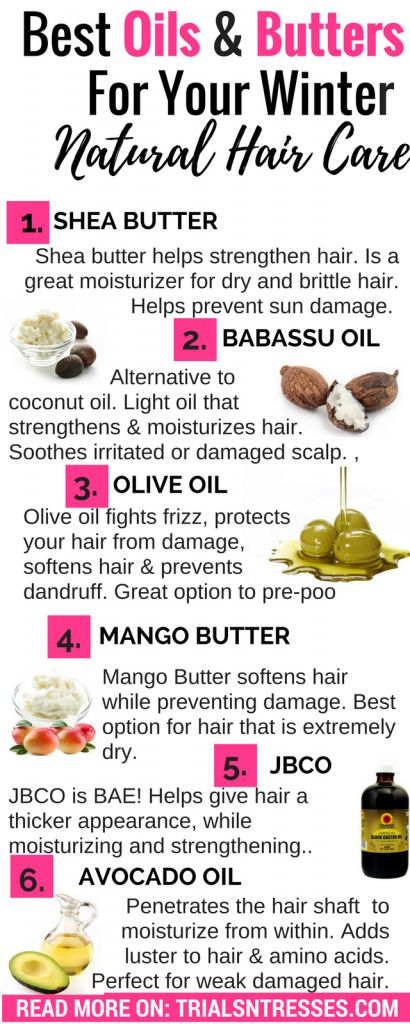 best oils and butters for winter natural hair care