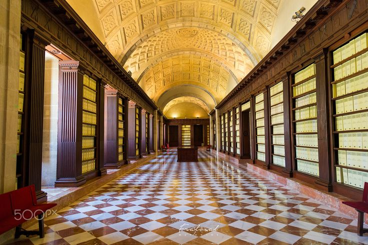 Inside the Archivo General de Indias - The Archivo General de Indias was registered in 1987 by UNESCO as a World Heritage Site.   It is a repository of archival documents with a great value that stores the history of the Spanish empire. By Fralosal