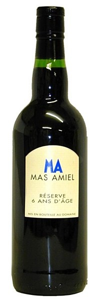 Mas Amiel 6 Years Old - Beautiful mahogany colour with an appealing bouquet of cocoa, seasoned wood and baked berries. The full-bodied, lush palate is jam-packed with rich cassis, prune and spice flavours. Round, easygoing tannins and a long, flavoursome finish. Drink with chocolate-based desserts or on its own. Best if decanted an hour before use.    16% ABV
