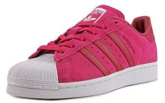 adidas Superstar W Women Round Toe Suede Pink Sneakers.