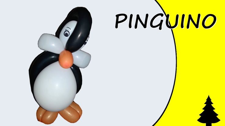 Video tutorial on how to make a penguin with balloons twisting #christmas #penguin