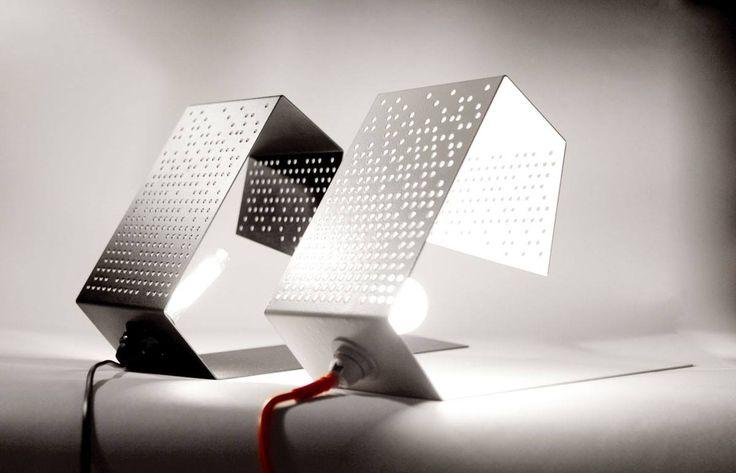 dots. lamp.  black & white color. sashadasha.com