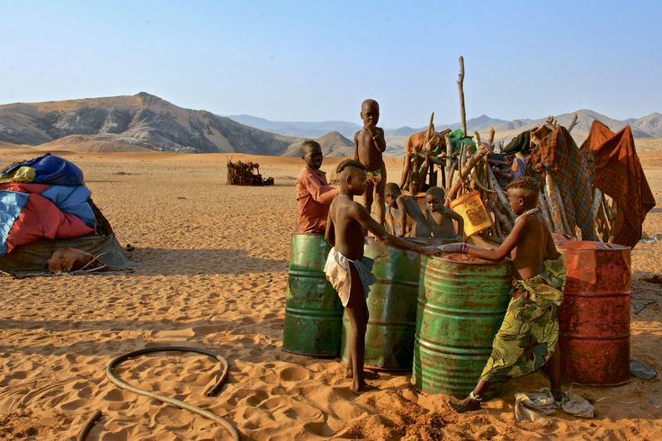 """Click on the image to discover how a French couple changed the lives of these Himba villagers by going to great lengths to get them clean water tanks. A inspired entry in our #WildernessMoments Photo Competition, in the """"Our Journeys Change Lives"""" category."""