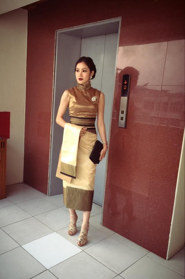 Awn Seng, Short Longyi, Simple, Myanmar Fashion