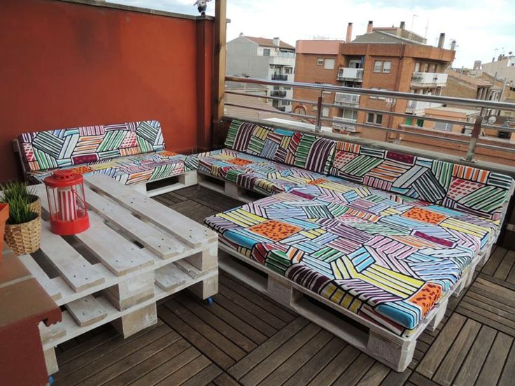Ideas for unique furniture made of europallets for balcony & roof terrace