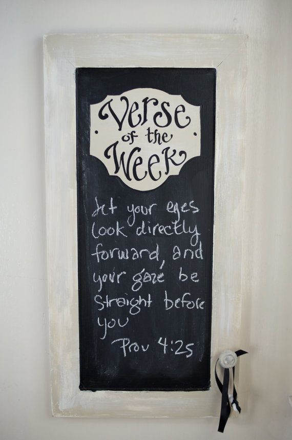verse of the week chalkboard - cute