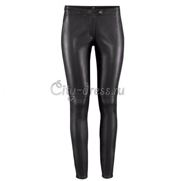 Кожаные джинсы женские купить фото