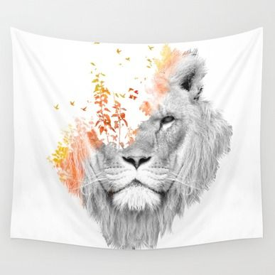 Wall Tapestry featuring If I Roar (The King Lion) by Picomodi