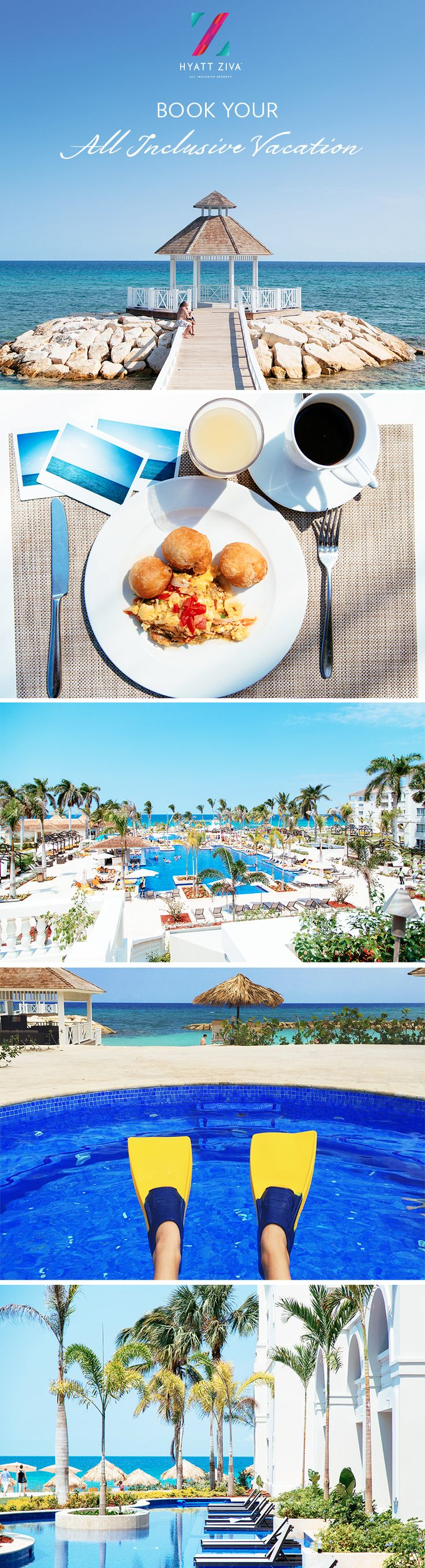 Grab your family and plan your next all inclusive vacation to the tropical paradise of Montego Bay, Jamaica. Indulge in unlimited Jamaican inspired eats, gorgeous beach views, crystal clear waters of the Caribbean and unforgettable family fun with #HyattAllIn. Plan your escape today! | Hyatt Ziva Rose Hall