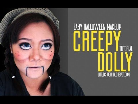 Easy Halloween Makeup - Creepy Dolly Tutorial (Bahasa) - YouTube