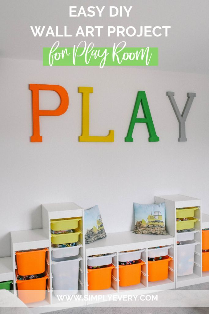 Easy Diy Wall Art Project For Play Room Play Room Wall Decor