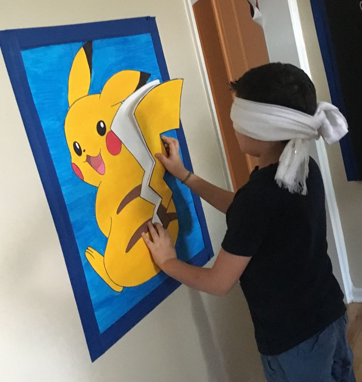 Pokémon party game Pin the tail on the Pikachu