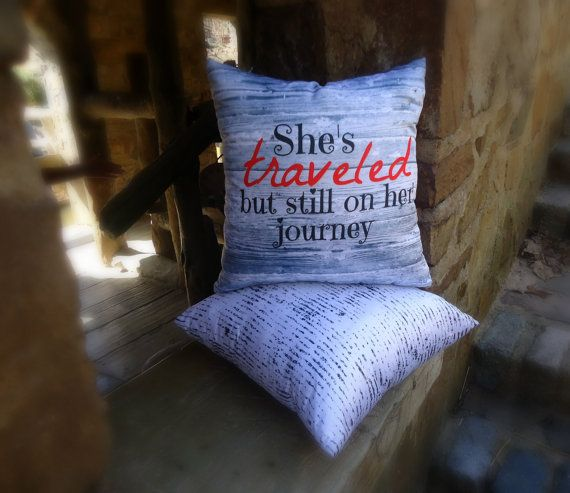 She's Traveled reversible throw pillow set 16x16 by SheDecor, $27.99