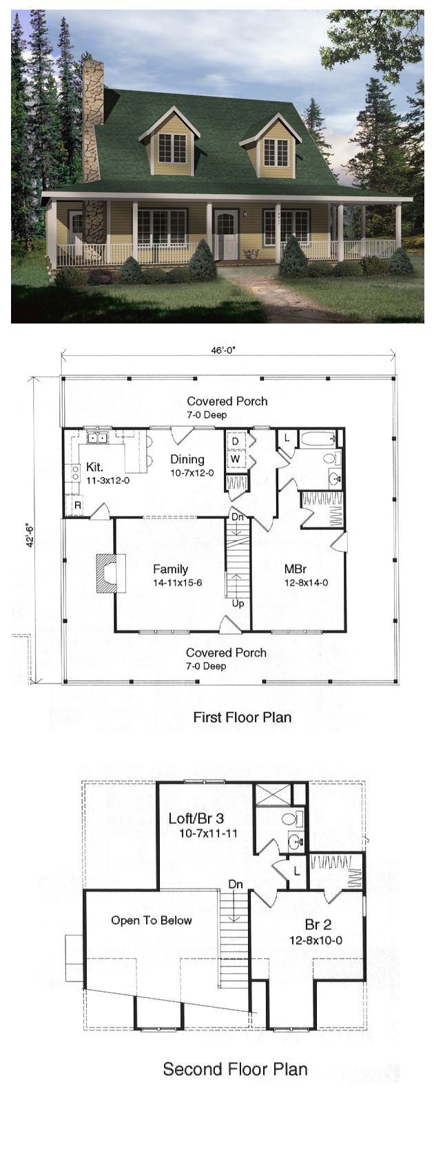 CapeCod Style COOL House Plan ID chp 15961