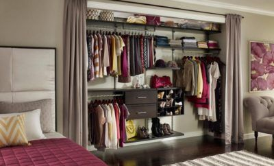 Captivating-Bedroom-With-Closet-Organizers-Ideas-Using-Gray-Fabric-Curtains-400x242.jpg (400×242)