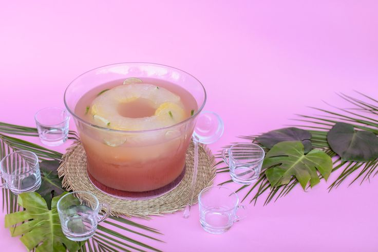 Transport your guests to a balmy beach with just one sip of this tropical fruit punch.