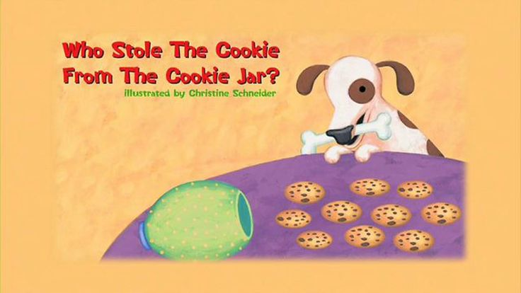 Who Stole The Cookie From The Cookie Jar Book 14 Best Who Stole The Cookiesfrom The Cookie Jar Images On