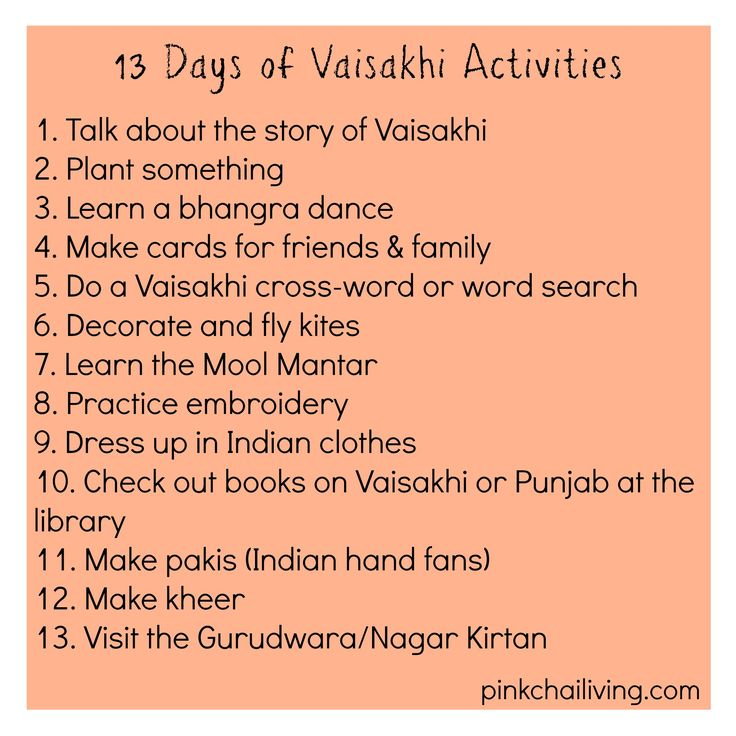 A countdown to #Vaisakhi calendar is a fun and easy way to talk to your kids about the historical and religious significance of this festival.