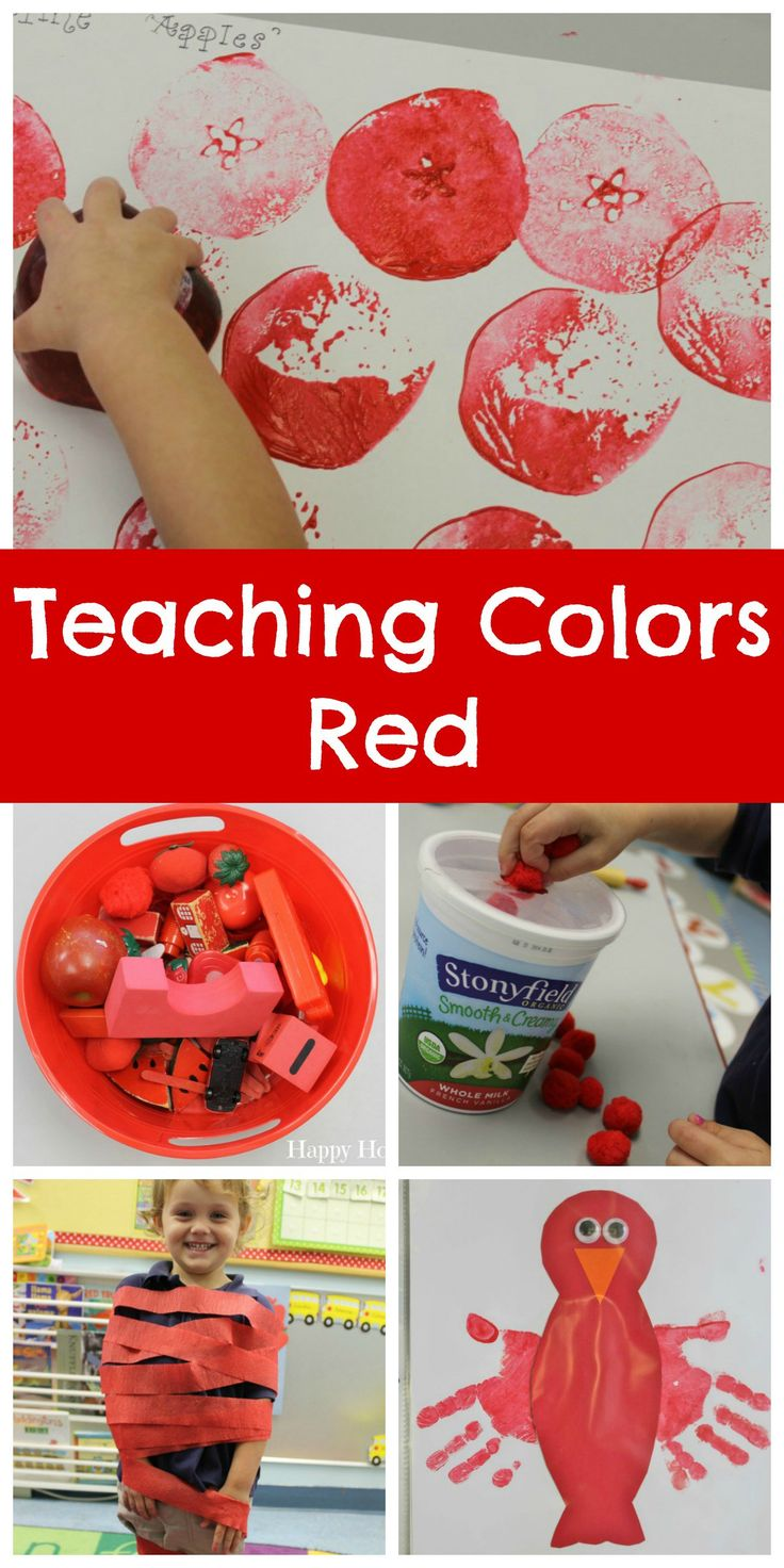 Teaching Colors Red | Preschool color activities Color ...