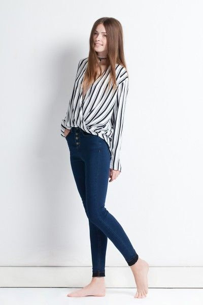 SUBDUED SHIRTS  BLOUSE STRIPES