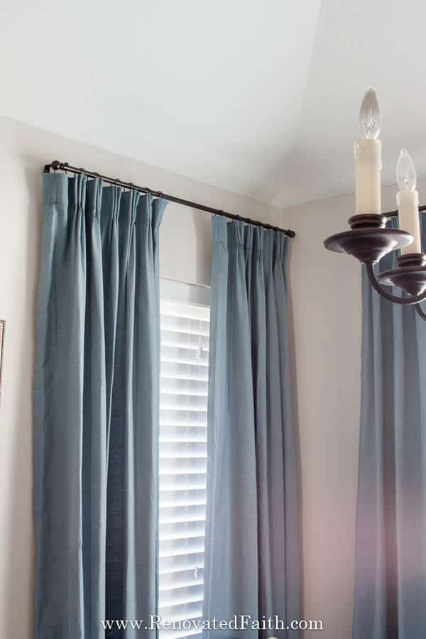 Diy Custom Curtain Rods Make Curtain Rods Out Of Electrical