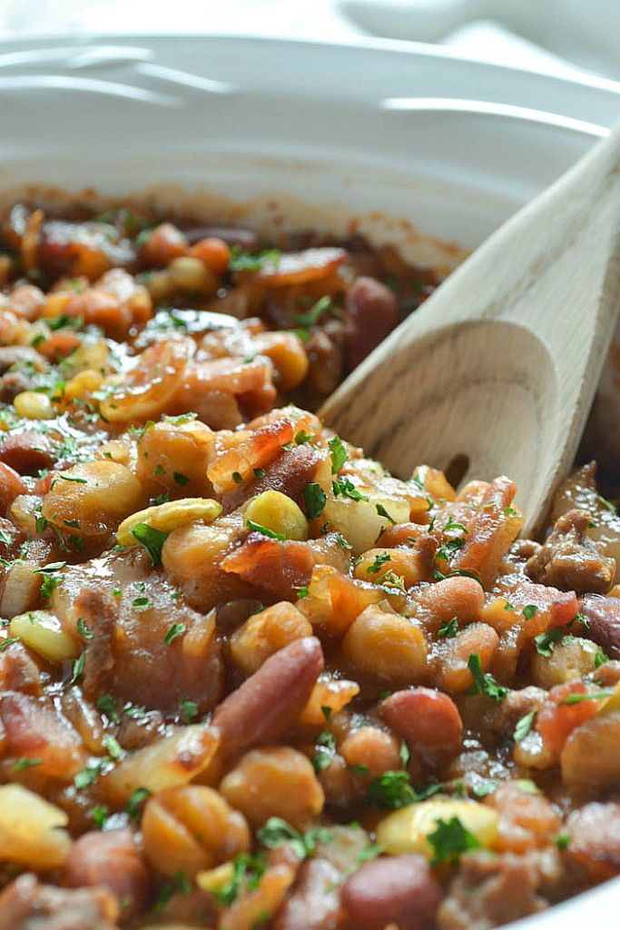 Calico Beans. Very easy dish to make and it was yummy. I think this will be a delicious winter dish too.