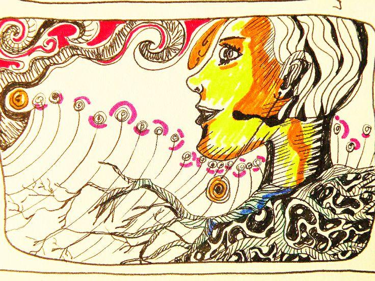 Dibujo lápices tinta y scripto.