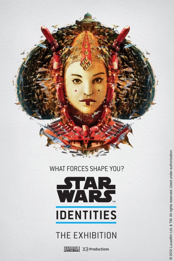 "Promotional poster for ""Star Wars Identities: The Exhibition"" by Bleublancrouge"