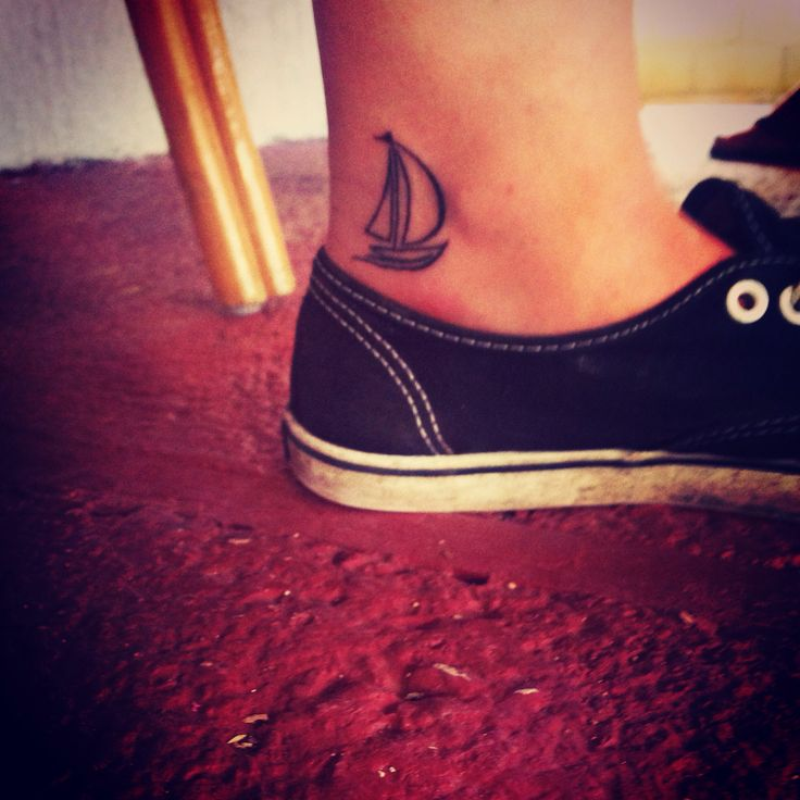 In love with my new sailboat tattoo!