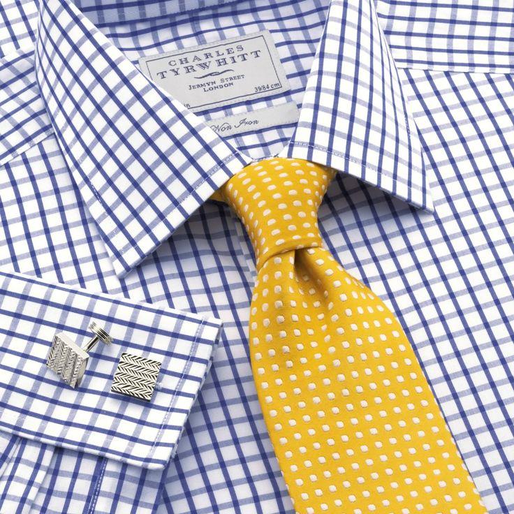 Royal grid check non-iron classic fit dress shirt | Classic fit dress shirts from Charles Tyrwhitt | CTShirts.com