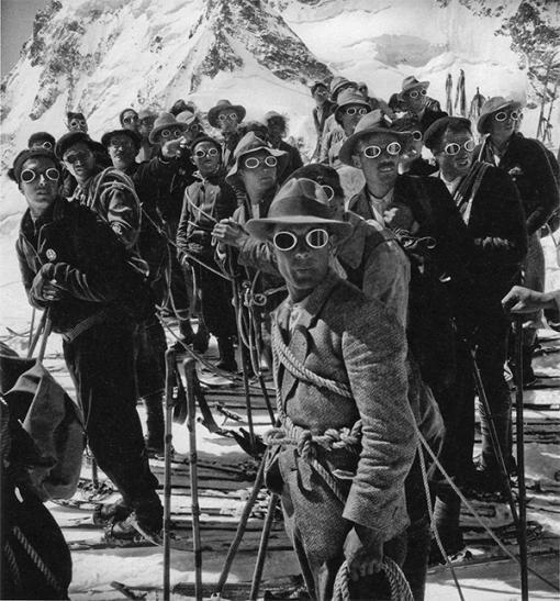 Bergführerausbildung, Schweizer Alpen Club, 1938 | Photo Hans Steiner