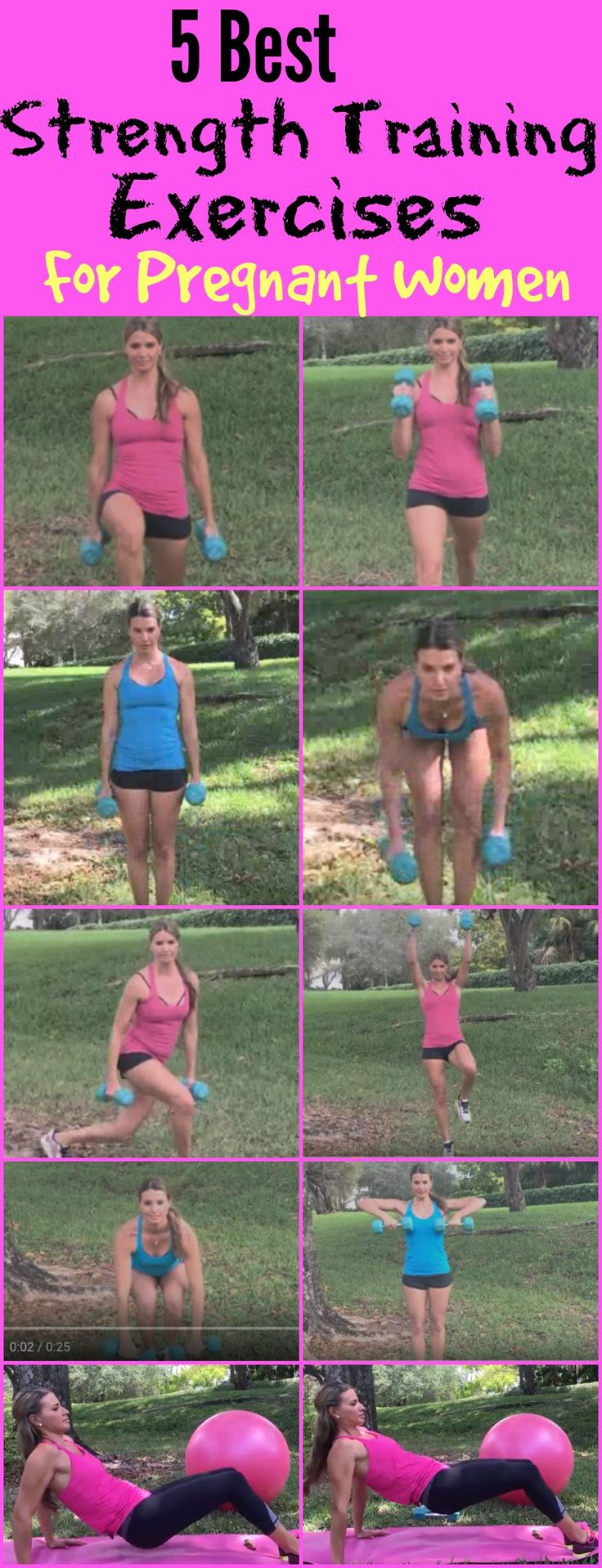 5 Best Strength Training Exercises for Pregnant Women. These pregnancy exercises put together are the best for helping gain less weight and have a fit pregnancy.