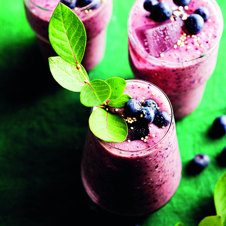 Start your day right with this Blueberry Slushie. It'll put a spring in your step!