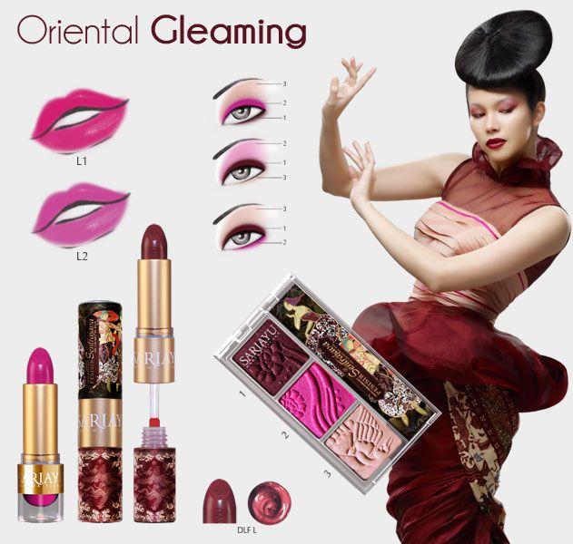 Koleksi Lasem Trend Warna 2013  Hadir dalam warna Merah Kecoklatan, Fuschia dan Salem untuk pemulas mata. Dilengkapi dengan 2 lipstick, Duo Lip Function.. lipstick dan liquid lip color dalam satu kemasan serta Natural Glow Powder.
