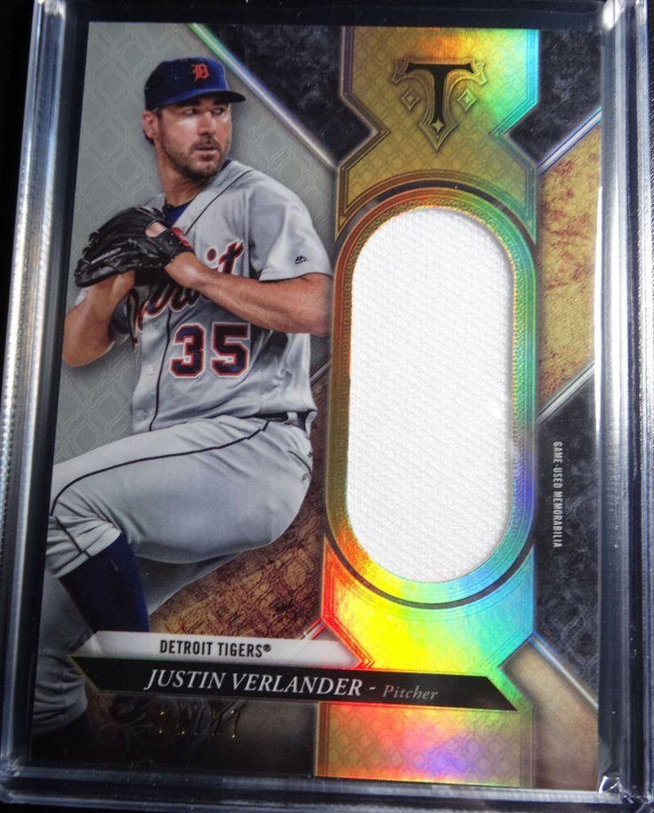 2017 Topps Triple Threads #SJR-JVR Justin Verlander Jersey Relic Card 24/27 #DetroitTigers