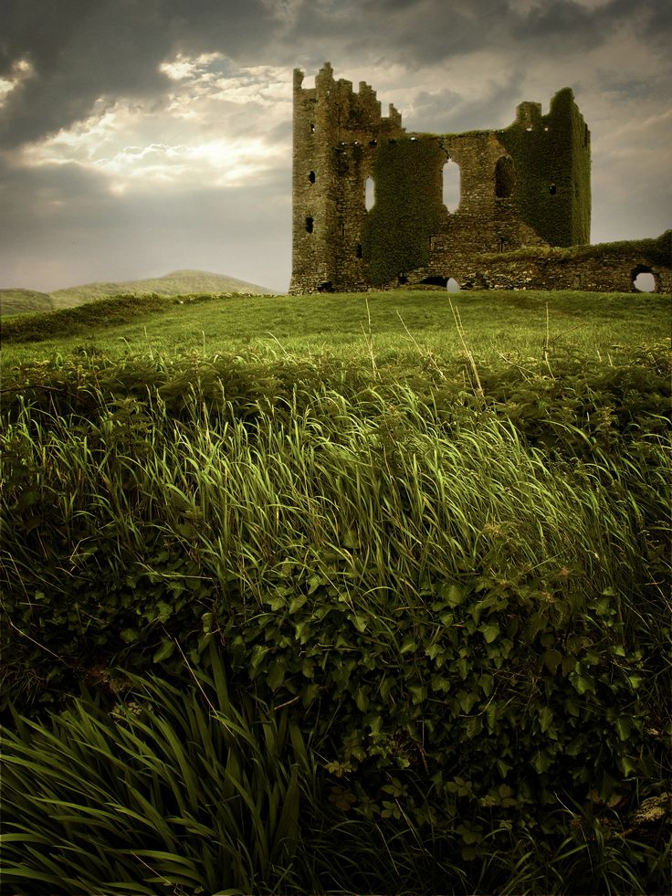 Ballycarbery Castle, County Kerry, Ireland.
