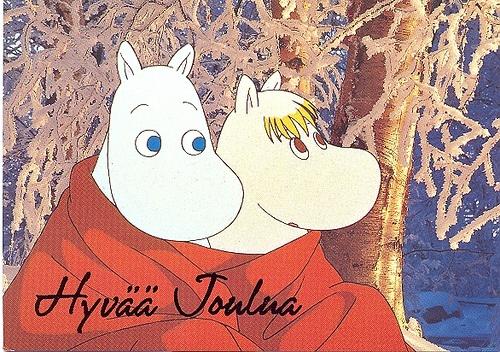 #Moomins Christmas postcard